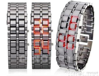 Lava Style Hot Iron Samurai Watch