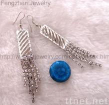 Silberner Ohrring, versilbern überzogenen Ohrring