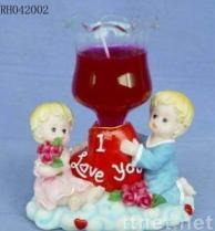 De Punten van de valentijnskaart (jongen & meisje met glas)