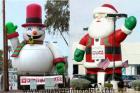 Santa&Snowman gonflable