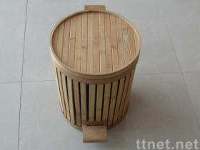 bamboo waste bin