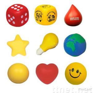 Polyurethane stress toy ball