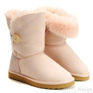 Women's Bailey Button boots, 5803 style, light pink, size 8(Size 39)