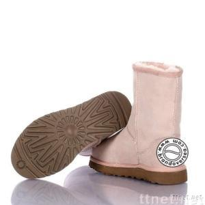 Women's Classic Short boots, 5825 style, light pink, size 7.5(Size 38.5)