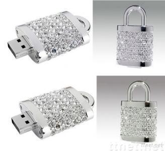Diamond USB Flash Drive, Jewelry USB Flash Drive, USB Flash Memory Drives