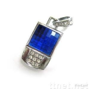 Necklace USB Flash Drive, Diamond USB Flash Memory Stick