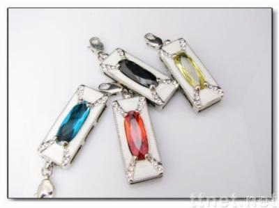 Necklace USB Flash Drive, Diamond USB Flash Memory Stick, USB Flash 2.0