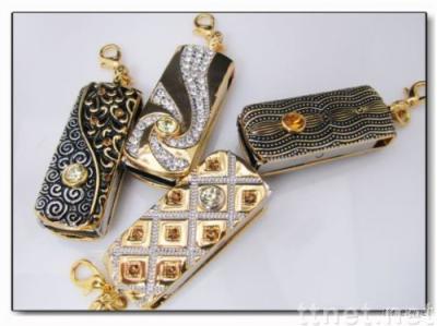 Crystal USB Flash Drive, Necklace USB Flash Drive, Diamond USB Flash Memory Stick