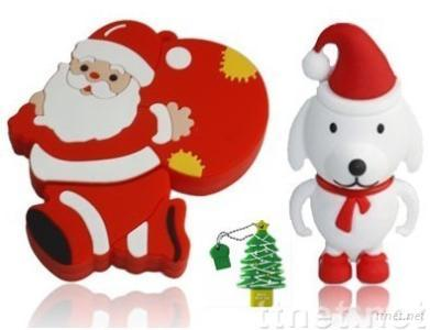 Christmas Santa Style USB Flash Drive