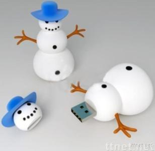 Christmas Snowman USB Flash Drive