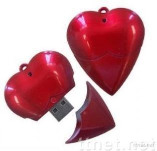 4GB/8GB Delicate Heart Shape USB Flash Drive