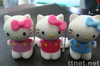 Promotion 4gb Cute Hello Kitty Carton USB Flash Memory