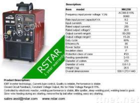 MIG250 IGBT 변환장치 반 자동 MIG/MAG 용접 기계
