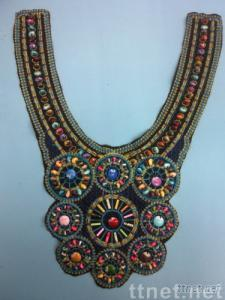 beads lace collar