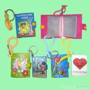 PVC Cartoon Keychain With Note Book