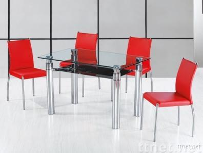 Modern Glass Dining Table & Chairs