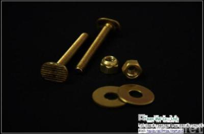 Solid Brass Toilet Bolts Set