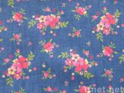 Fashion Discharge Printed Denim Fabric