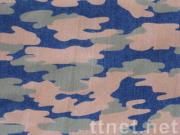 Pigment Camouflage Printed Denim Fabric