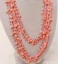 Handmade Bohemia Rice Pearl Beaded Necklace