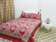 3 Pcs Flocking Comforter/Quilt Set