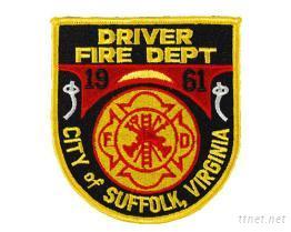 消防用刺繡臂章