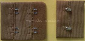 Bra hook and eye tape with 4 stitches 3/4',2x2