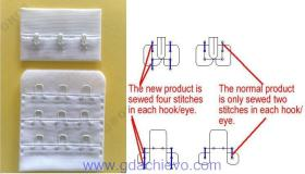 Supply New design hook and eye tape 4-stitch,1/2',3x3