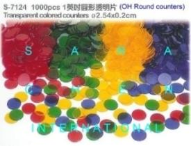 Transparent Colored Counters (OH Round Counters)