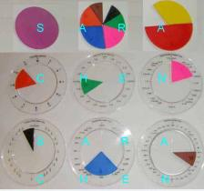 Fraction Disc With Circle Fraction Set