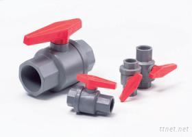 單把手兩片式球閥pvc ball valve(two pieces)