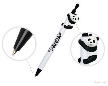 Ball-Point Pens With Panda Figures