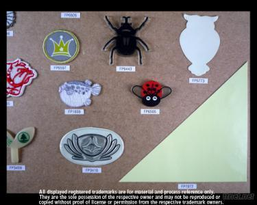 Glow in The Dark Embroidery Labels (Pvc, Embroidery, Sticker)