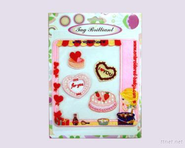 Lovely Embroidered Stickers Pack