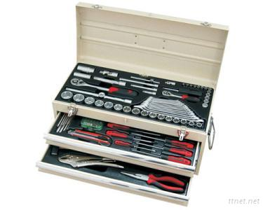 3 Drawer Portable Tool Chests With 111 Pcs Tools
