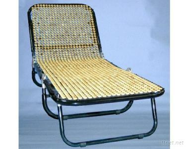 Healthy Wooden-Beads Folding Settee/Bed