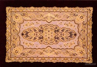 PVC Lace Placemat With Gold