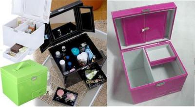 Faux Leather Make-up Boxes