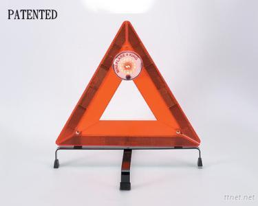 The Mini Flare-King Flashing Unit and Reflective Triangle Set (Patented)