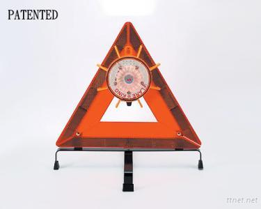 The Flare-King Road Flare Unit And Reflective Triangle Set (Patented)