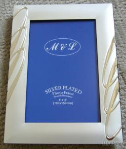 Metal Photo Frame, Alloy Photo Frame, Silver Plated Photo Frame