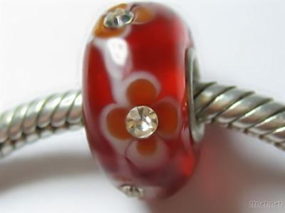 Sterling Silver Core Glass Beads