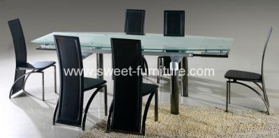 Modern Extension Glass Dining Table