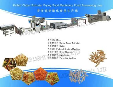 Pellet&Chips&Extruded Frying Food Processing