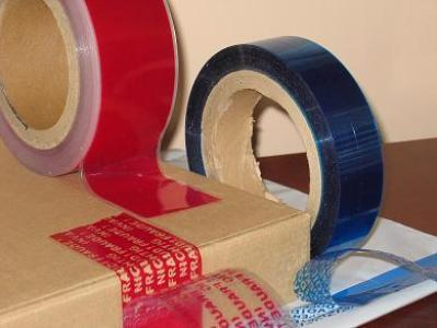 Partial Transfer Tamper Evident Seal Tape (Label, Sheet)--PET