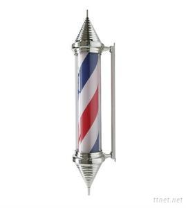 Chrome Plated Cone Cap Barber Pole