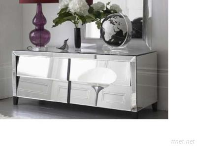 Mirrored Bedside Table, Glass Mirror End Table
