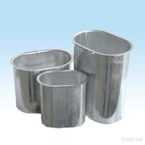 Oval Aluminum Capacitor cans