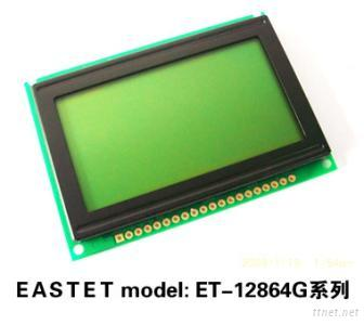 128X64 Yellow-Green Background Character LCD Display