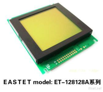128X128 Yellow-Green Background Graphics LCD